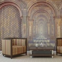 wall mural for Harry Potter fans: amazing chamber of secrets and hidden corridor in vintage colour palette Secret Walls, Wall Paint Patterns, Vintage Colour Palette, Buy Wallpaper Online, 3d Wall Murals, Hogwarts, Chamber Of Secrets, Stunning Wallpapers, Glass Floor
