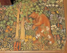 Berkeley and the making of Yosemite: Detail of the Mural Room at The Ahwahnee