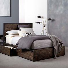Logan Storage Bed - Smoked Brown | west elm