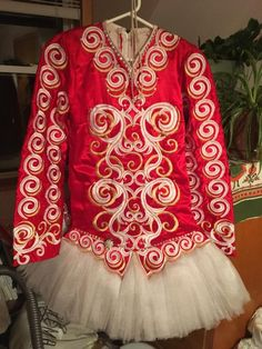 Stand Out Red Michelle Lewis Irish Dance Dress Solo Costume For Sale