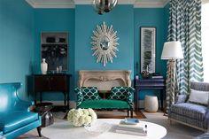 """Benjamin Moore """"Gulf Stream"""" #670  Massucco Warner Miller Interior Design"""