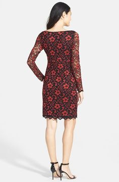 Karen Kane Red and Black Scallop Lace Party Dress Fashion  | Nordstrom #Karen_Kane #Red_and_Black #Scallop #Lace #Party #Dress #Fashion  #Nordstrom