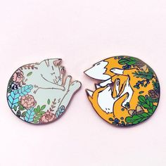 """sosuperawesome: """" Enamel Pins by Northern Spells, on Etsy See our 'enamel pins' tag """" Jacket Pins, Art Japonais, Cool Pins, Metal Pins, Pin And Patches, Pin Badges, Lapel Pins, Pin Collection, Brooch Pin"""
