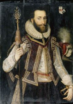 Portrait of a Gentleman in a Lace Ruff, British (English) School, c.1600, oil on wood panel, 103.5 x 80 cm
