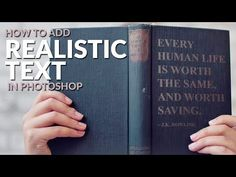 How to Add Realistic Text to ANYTHING in Photoshop - YouTube