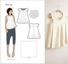 Flared top, a pattern variation - by Novita Estiti (from 'The BurdaStyle Sewing Handbook')