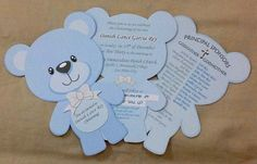 Teddy Bear INVITATION Blue Diy Teddy Bear, Teddy Bear Party, Teddy Bear Baby Shower, Superhero Baby Shower, Baby Girl Shower Themes, Baby Shower Fun, Juegos Baby Shower Niño, Baby Shower Invitaciones, Happy Birthday Cards