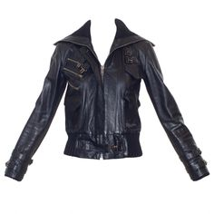 Rodarte Spring 2009 Leather Biker Jacket | From a collection of rare vintage jackets at http://www.1stdibs.com/fashion/clothing/jackets/