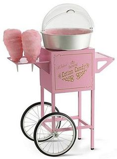 Cotton Candy Machine not bad. drinking coffee or tea while pinching your cotton candy. make your own cotton candy. Cotton Candy Cupcakes, Pink Cotton Candy, Cotton Candy Wedding, Wedding Candy, Wedding Sweets, Cotton Candy Party, Pink Love, Pretty In Pink, Perfect Pink