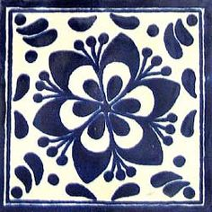 Infuse the spirit of the Southwest into your home with these beautifully handcrafted Talavera tiles! An eye-catching accent in kitchens and baths, decorative ceramic tiles are also perfect for covering the risers on a staircase or the walls of a patio. Tile Patterns, Textures Patterns, Talavera Pottery, Ceramic Pottery, Ceramic Art, Tiles For Sale, Art Populaire, Portuguese Tiles, Mexican Style