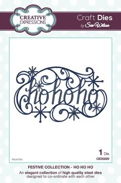 Hello there my crafty friends! More Christmas word dies with the Ho Ho Ho die being on offer this post. This one is a whimsically fu...
