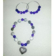 Purple Heart charmed set