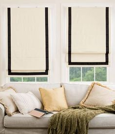Bordered Roman Shade - Cordless Would love these for our sitting room. Classic look and so stylish.