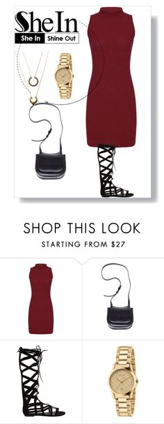 """""""I'll love you forever and always no matter what ----- NOT"""" by ivoryqueen121615 ❤ liked on Polyvore featuring The Row, Steve Madden, Gucci and WithChic"""