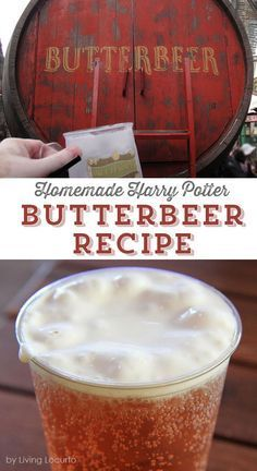 Make a batch of Homemade Harry Potter Butterbeer and let the magic begin! An easy drink recipe similar to the one at Hogsmeade at the Wizarding World of Harry Potter.