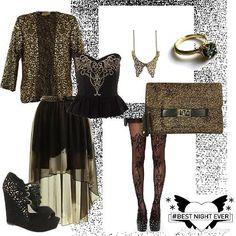 Altın İşlemeli Ceket, Altın İşlemelei Çanta, Özel Kombin ... by ModaveTrendy
