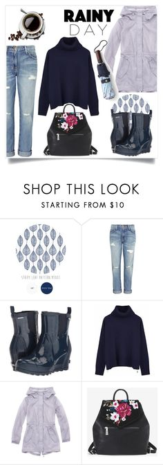 """Rainy Day"" by enamorado-dina ❤ liked on Polyvore featuring Current/Elliott, SOREL, Ille De Cocos, Marc New York, White House Black Market and J.Crew"