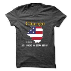CHICAGO - Its where my story begins - #gift certificate #day gift. GET YOURS => https://www.sunfrog.com/No-Category/CHICAGO--Its-where-my-story-begins-30826804-Guys.html?68278
