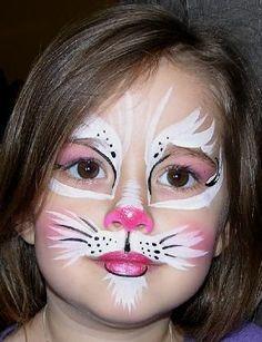 kitty kat makeup for halloween | Kitty face, cat face, pink cat face, face painting, cat face painting ... #facepaintingideas