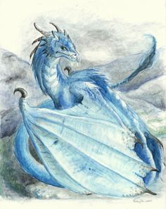 Ice blue ice dragon