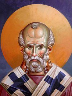 Byzantine Art, Byzantine Icons, Church Interior, Saint Nicholas, Orthodox Icons, Vignettes, Baroque, Saints, Faces