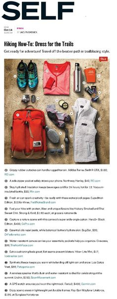 Hiking: how to dress for the trails. Great tips for being prepared on the trail.