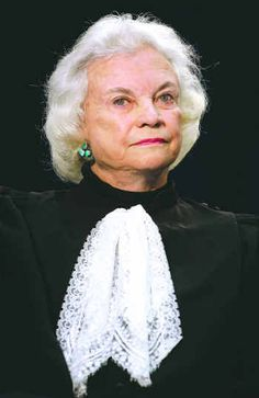 Sandra Day O'Connor is a retired United States Supreme Court justice. She served as an Associate Justice from her appointment in 1981 by Ronald Reagan until her retirement from the Court in 2006. She was the first woman to be appointed to the Court.