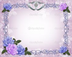 Purple Wedding Corner Borders | , birthday, wedding invitation, stationery, background, border ...