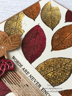 Ladybug Stampin: Fall Card using Stampin Blends & Classic Ink Pads