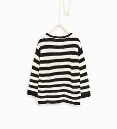 ZARA - BØRN - Stribet sweater med lapper