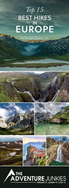 The Best Hikes in Europe – Best Hiking Trails – Hiking Bucket List – Beautiful Backpacking Places To Go On Vacation