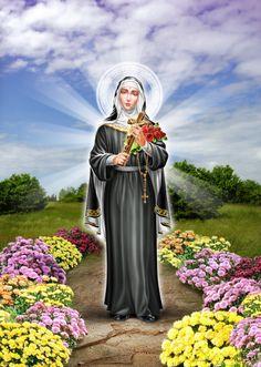 ♥ Prayer To St Rita, Sta Rita, Sainte Rita, St Rita Of Cascia, Superman Artwork, Novena Prayers, Santa Teresa, Catholic Saints, Jesus Saves