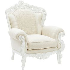 Baroque Armchair with Handmade Fabric found on Polyvore featuring home, furniture, chairs, accent chairs, fabric arm chair, handmade furniture, fabric armchairs, upholstered accent chairs and upholstered arm chair