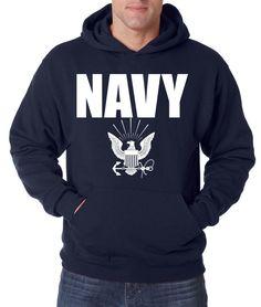 NAVY HOODIE Military Hooded Sweatshirt Blend Seal US U.S.NAVY USNAVY USA United #RockCityThreads #Hoodie
