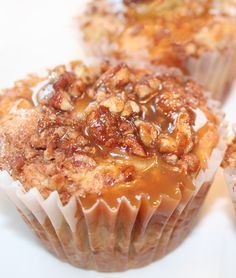 Caramel-Banana Muffins: Dubbed Bananas Foster Muffins by food blogger @NancyC