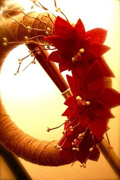 Christmas yarn wreaths, Christmas yarn and Yarn wreaths on Pinterest