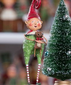 Take a look at this Giving Elf Figurine by ESC and Company, Inc. on #zulily today!