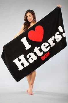 The Haters 2 Beach Towel in Black by DGK  use rep code: OLIVE for 20% off