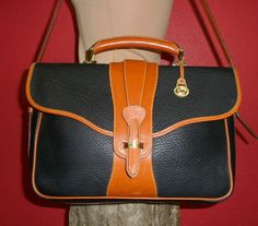 Vintage DOONEY & Bourke Large Navy Blue Tan Brown by Station85, $239.99