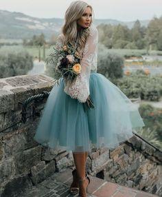 awesome С чем носить шикарное голубое платье? (50 фото) — Длинные и короткие модели