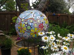 mosaic garden spheres (and more) by Katherine England (www.katherineengland.com)