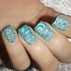 Essie water marble with Blossom Dandy and Garden Variety
