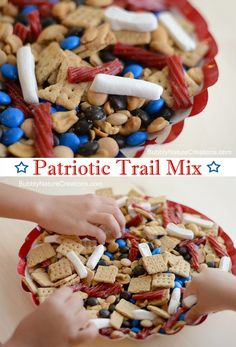 Patriotic Trail Mix - It's sure to be a hit for 4th of July or anytime!
