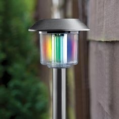 Multicolour Solar Post Light