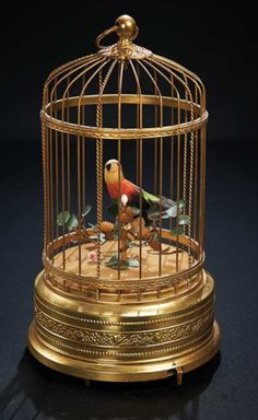 Charming Swiss Mechanical Singing Bird in a Gilded Cage Music Box 700/900 | Art, Antiques & Collectibles  Toys & Hobbies  Dolls  | Auctions Online | Proxibid