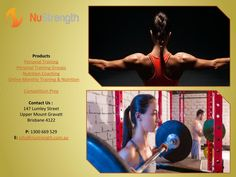 Online Monthly Training & Nutrition  If you desire to attain toned and healthy body, then regular workout and nutritious diets are two main aspects that can help to achieve this goal. There are various private training studios that specialize in personal training, preparing individual personal training groups, and nourishment coaching.  For more details, you can visit http://nustrength.com.au/