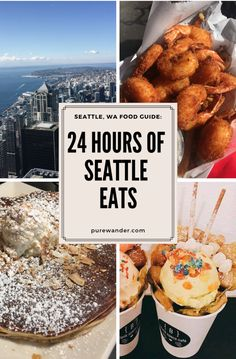 24 Hours of Eats in Seattle, Washington Seattle food! Recognized for its expertise in coffee and fresh seafood, is a city food-lovers from all over the globe travel to to satisfy their every craving. Usa Roadtrip, Travel Usa, Globe Travel, Travel Tips, Beach Travel, Travel Europe, Budget Travel, Canada Travel, Solo Travel