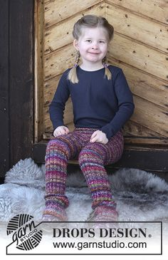 Winter Fable - Knitted pants with rib for kids. Size 2 - 12 years Piece is knitted in 2 strands DROPS Fabel. - Free pattern by DROPS Design Knitting Patterns Free, Knit Patterns, Free Knitting, Baby Knitting, Free Pattern, Knitting For Kids, Crochet For Kids, Crochet Baby, Knit Crochet