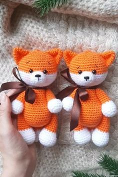 Little fox amigurumi pattern Muster Strickohrwärmer Muster frei Crochet Animal Patterns, Stuffed Animal Patterns, Crochet Blanket Patterns, Crochet Animals, Crochet Bear, Crochet Patterns Amigurumi, Amigurumi Doll, Crochet Dolls, Crochet Crafts