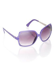 Purple Square Sunglasses by I Love Accessories #zulilyfinds